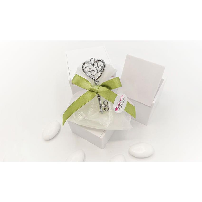 Matrimonio Tema Chiave Del Cuore : Bomboniera matrimonio chiave cuore confetteria bon bon