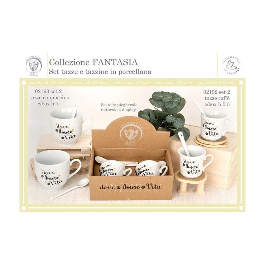 La Bonne confetteria tazza da caff/è Set di tazze di caff/è tazze in porcellana