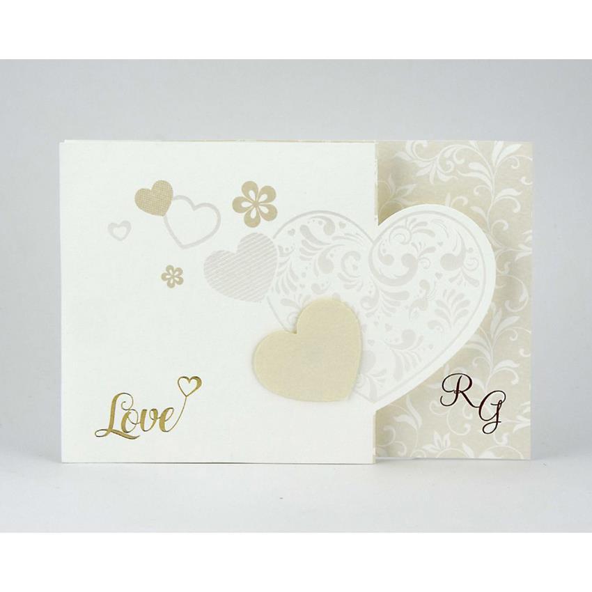 Partecipazioni Matrimonio Quadrifoglio.Partecipazione Matrimonio Alessia 08836 Con Cuori E Scritta Love